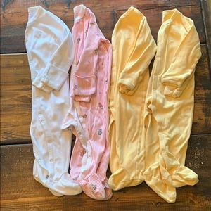 Lot of footed polo onesies